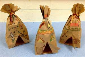 How To Make Teepee Out Of Paper - paper bag teepee crafts bags paper and