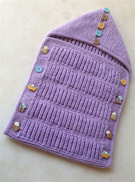 envelope bag free knitting pattern of the day from baby cocoon snuggly sleep sack wrap knitting patterns