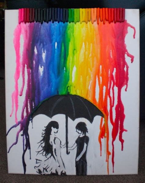 painting ideas tumblr crayon rain on tumblr