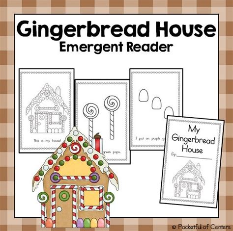 Gingerbread Man Printable Emergent Reader | gingerbread house emergent reader emergent readers and