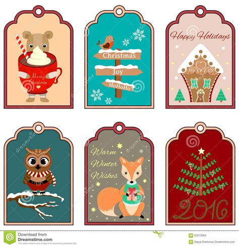 set of 6 winter bird christmas gift tags free printables 6 christmas gift tags with bear bird gingerbread house
