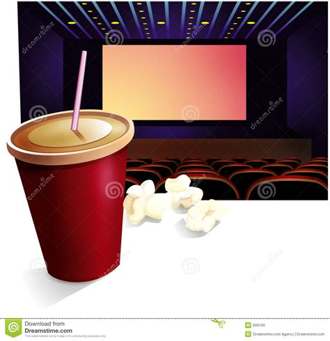 cinema drink pop corn stock photo image