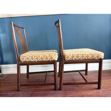 asian inspired dining chairs  pair chairish