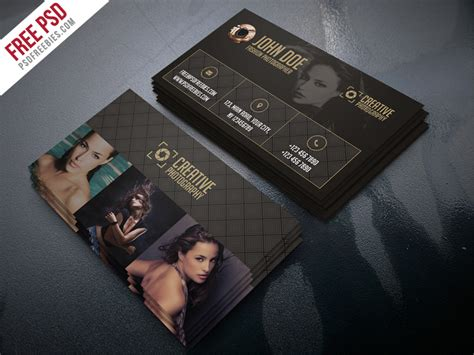 calling card psd template freebie fashion photographer business card template psd