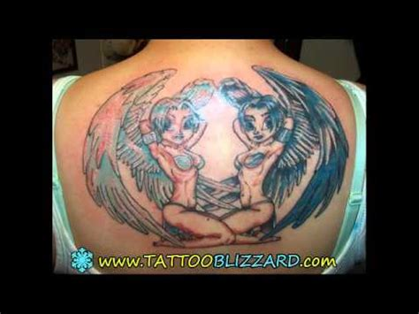 angel tattoo youtube angel and devil wings tattoos youtube