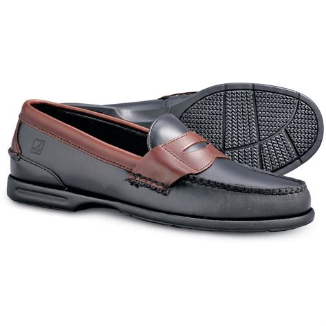 black sperry loafers s sperry 174 tremont loafers black amaretto