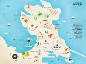 La Coruna Spain Map by Coruna Spain Tourism Images