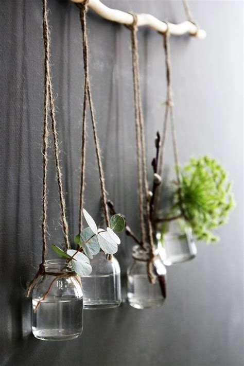 78 ideas about hanging pots on pinterest hanging pans display hanging bottles vases on a branch projets