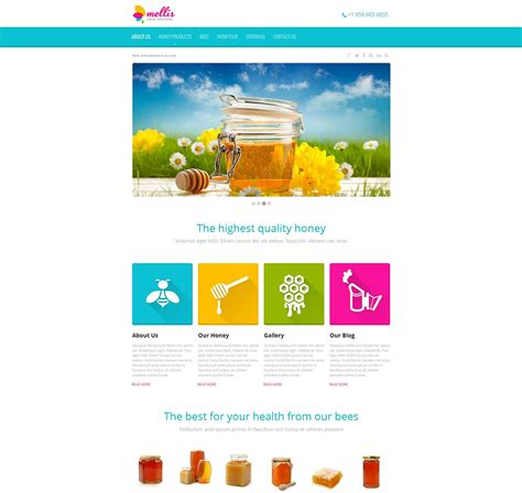 cms templates honey store moto cms html template 47378