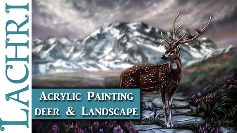 watercolor deer tutorial painting mountains and a deer in acrylics art tips