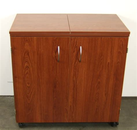 armoire sewing cabinet arrow k8205 bandicoot teak sewing machine cabinet at ken s sewing center