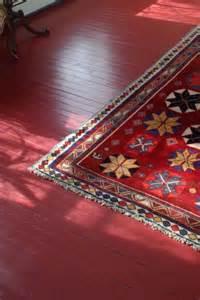 Red Floor Paint Canoe Corner Painting A Hardwood Floor