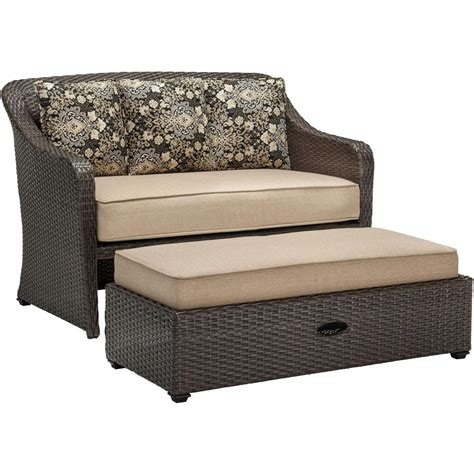Two Person Chair With Ottoman Parkland Heritage Resin Back Patio Park Bench Slp2660brsp The Home Depot