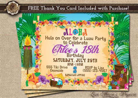 free printable birthday invitations luau hawaiian party invitation luau birthday invitation luau