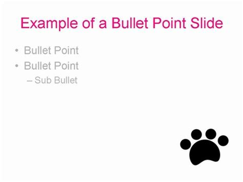 paw print powerpoint template paw prints template