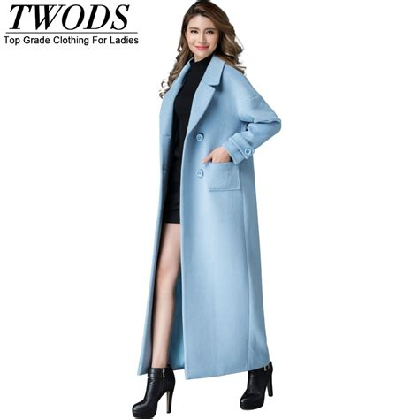 light blue wool coat twods s 4xl fashion light blue wool coat plus