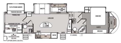 fifth wheel bunkhouse floor plans forest river cers bunkhouse king bed and 2 bath 5th
