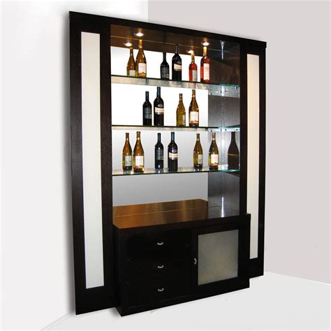 elite corner home bar wenge wine racks and storage