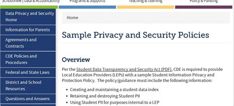 sans security policy templates security policy sle sans security policy project at