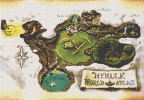 legend of zelda map cross stitch zelda oot hyrule map cross stitch pattern count