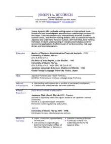 Free Formats For Resumes by Resume Templates