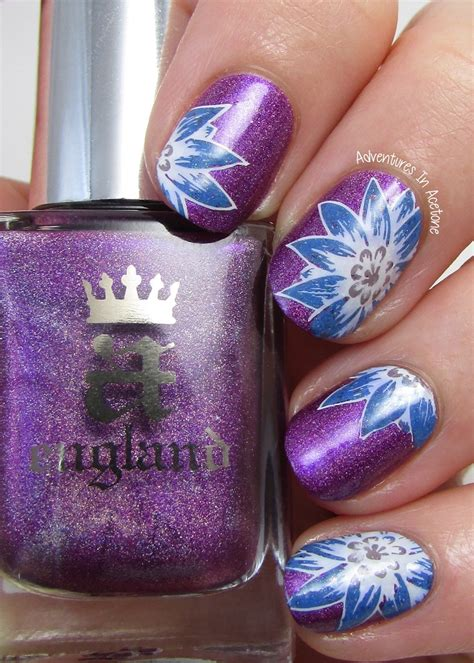 purple flower nails 20 floral nails you must try for spring pretty designs