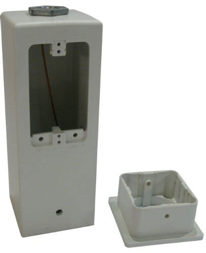outdoor l post with outlet arlington gpd9w gard n post outdoor deck mount light post