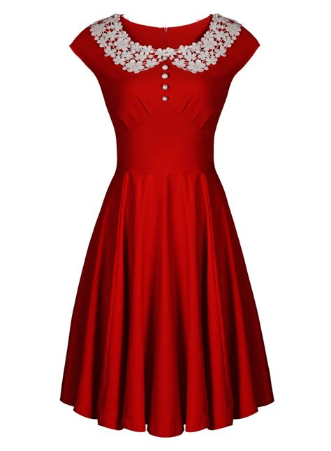 1940s swing dress women s vintage 1940s style lace collar retro swing