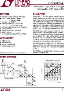 capacitor package datasheet lt1054 datasheet lt1054 100ma switched capacitor voltage converter