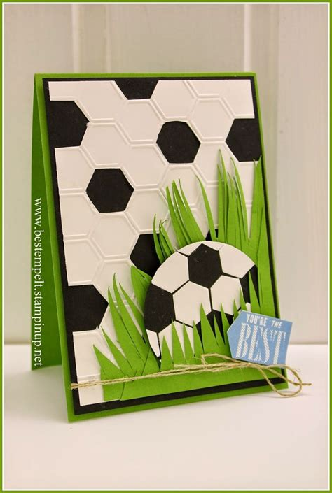 Handmade Football Cards - stin up handmade card from www bestempelt de