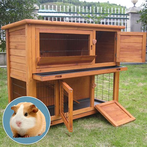 diy guinea pig house outdoor rabbit house plans