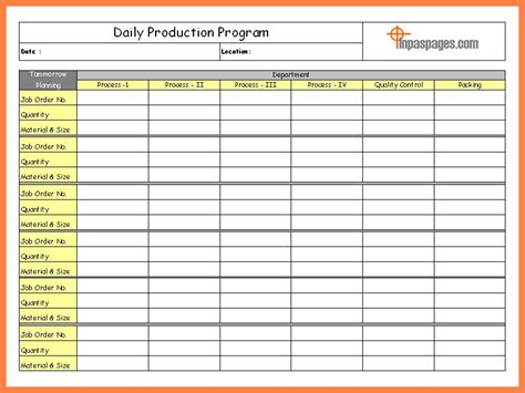 daily production report template xls daily report excel template invitation template