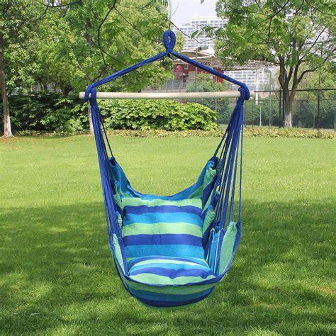 hanging chair swing hanging rope hammock swing seat outdoor indoor swinging