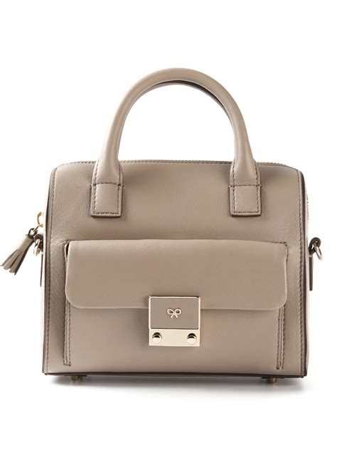Anya Hindmarch Carker by Lyst Anya Hindmarch Carker Barrel Mini Tote In Gray