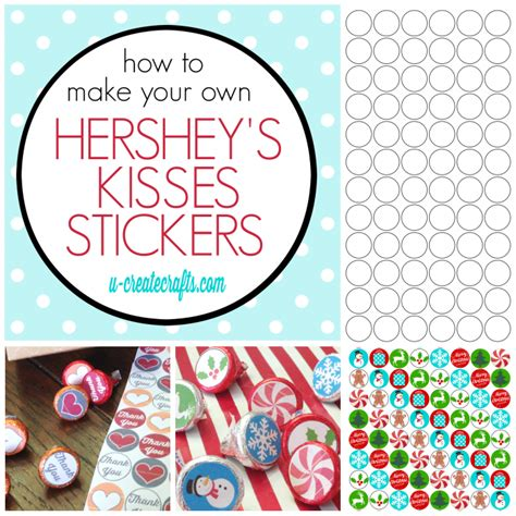 How To Make Hershey Kisses Stickers Personalized Hershey Kisses Stickers Template