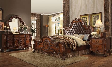 upholstered king bedroom set dresden ornate upholstered 4pc king bedroom set in