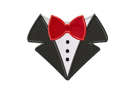 free bow tie shirt machine applique design daily embroidery