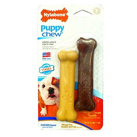 just for puppies nylabone just for puppies peanut butter and chicken