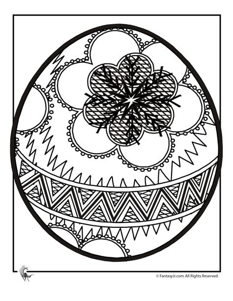 intricate cross coloring pages easter egg coloring page 6 woo jr kids activities