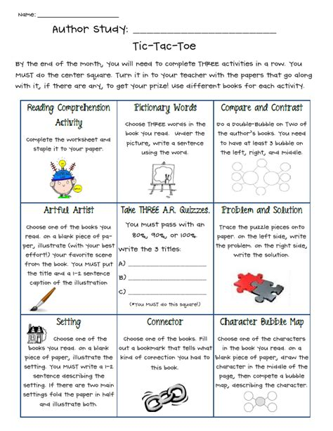 author study worksheet author study activities by the