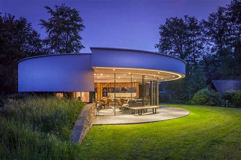 modern circular villa   forest idesignarch