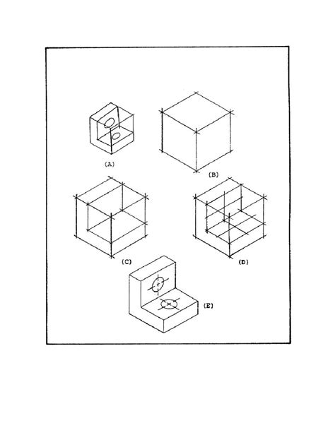 figure 47 solution to isometric drawing problem using an
