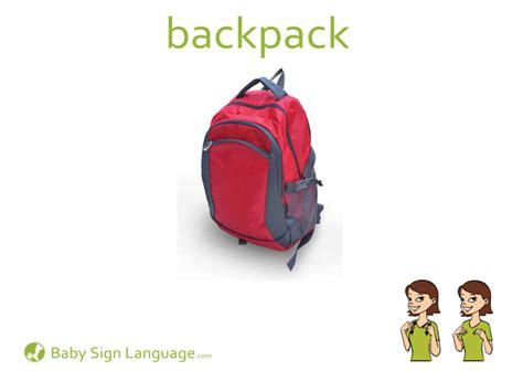 Sign Backpack backpack