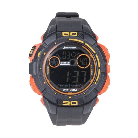 Jam Tangan Eiger Ataca jual eiger jam tangan pria ataca 4 0 black orange