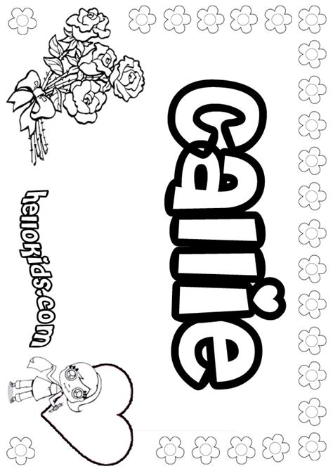 coloring pages my name callie coloring pages hellokids com