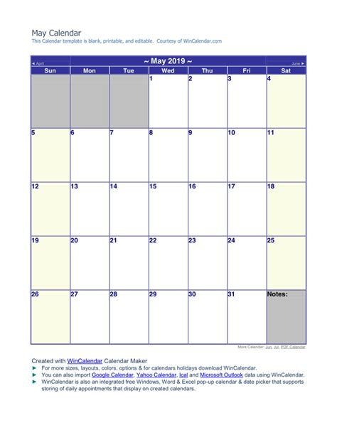 may 2019 calendar may 2019 calendar in word and pdf formats