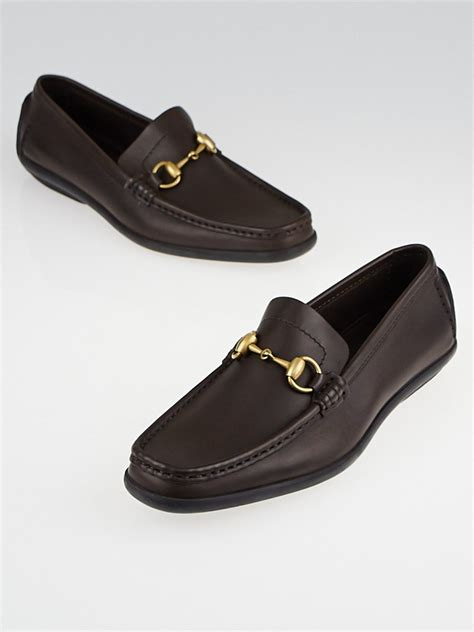 brown driving loafers gucci brown leather horsebit driving loafers size 7
