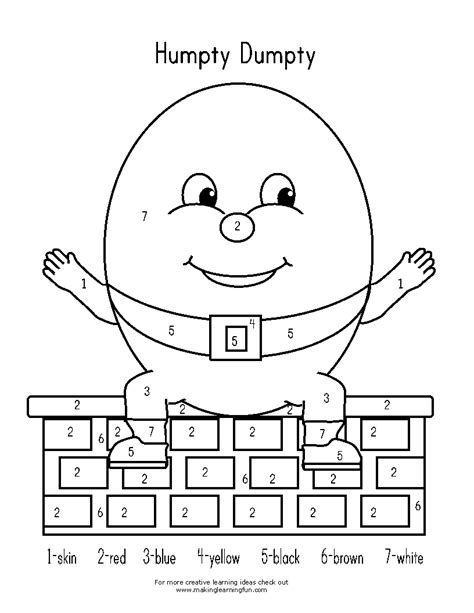 humpty dumpty activities kindergarten nation