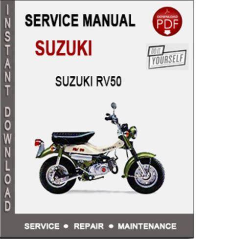 suzuki rv50 service repair manual pdf pligg
