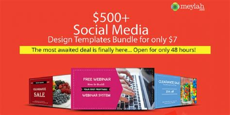 500 Social Media Design Templates Bundle For Only 7 Handmadeology Social Media Design Templates Free